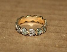 Heart Detail Band Ring with 18k Gold, Size 6