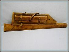 ANTIQUE 1800'S / EARLY 1900'S TOOLED LEATHER RIFLE SWORD HORSE SADDLE SCABBARD