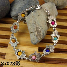 HOT Free shipping New silver multicolor jade  bead bracelet S62D