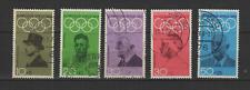 Bundespost ALLEMAGNE 1968 Jeux Olympiques de Mexico 5 timbres oblitérés /T3331