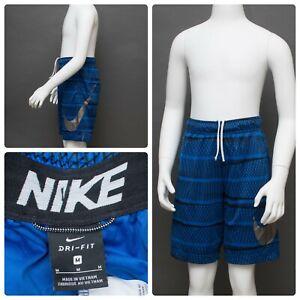 Boys Nike Dri-Fit Size MEDIUM Blue, Black & Gray Basketball Shorts
