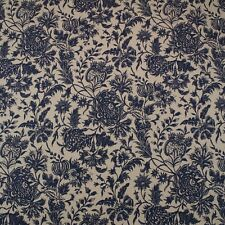 """DURALEE ANANYA BLUE FLORAL LINEN HIGH END DESIGNER MULTIUSE FABRIC BY YARD 54""""W"""