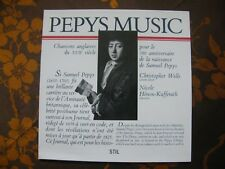 LP CHANSONS ANGLAISES DU XVIIè / PEPYS MUSIC CHRITOPHER WELLS N.HENON-KUFFERATH
