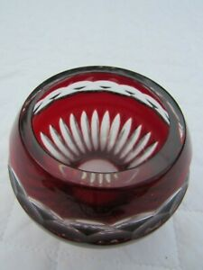 Red and Clear Faberge Crystal Vintage Antique