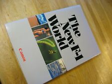 """Vintage 1981 Canon """"The New F-1 World"""" Book"""