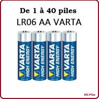 Piles bâtons Varta alcalines LR06 AA High Energy, envoi rapide et gratuit