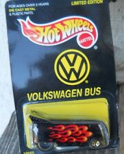 HOT WHEELS LIMITED EDITION VOLKSWAGEN BUS WITH FLAME PRINT MADE IN  1998