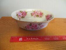 """Vintage Andrea By Sadek 9"""" Oval Vegetable Bowl 8118 Rose Pattern"""