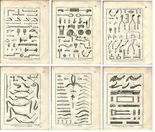 Stampa antica FABBRO CARROZZE 6 TAV. Encyclopedie Diderot 1785 Antique print