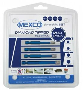 Mexco Tile Drill Set Porcelain-Ceramic-Marble Multipack 5.5mm-6mm-7mm-8mm
