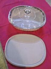 Corning Ware French White 1.4 L (1 1/2 Quart) Oval Casserole w/ Both Lids