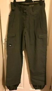 """Hart Fishing, Hunting Trousers 34"""" Waist Water Resistant, green,  ankle cuffs"""