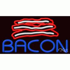 "Brand New ""Bacon"" 37x20x3 W/Logo Real Neon Sign w/Custom Options 11658"