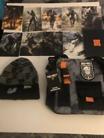 Call of Duty Black Ops 4 TACTICAL SLING BAG, Beanie + BO3 lithographs