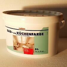 Bad & Küchenfarbe weiss Matt 5 L Badfarbe gegen Schimmel  abwaschbar  Farbe