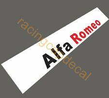 Alfa Romeo SunStrip Visor Windshield Decal Sticker Brera GTA 147 155 Mito giulia
