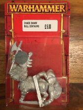 Chaos Dwarf Bull Centaur Axemen New In Blister Rare 90s Metal Games Workshop OOP