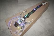Brand new acrylic electic guitar with LED transparent body and maple neck