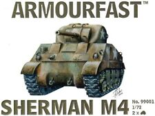 armourfast, 99001 Sherman M4 Tank (x2) ,US Army,  model kit, scale 1:72
