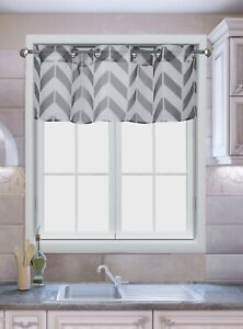1PC STRAIGHT VALANCE TOPPER PRINTED VOILE SHEER GROMMET WINDOW CURTAIN DRAPE C37
