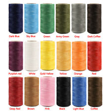 260M 150D 1mm Leather Sewing Stitching Flat Waxed Thread Durable String Cord DIY