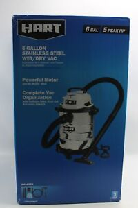 Hart 6 Gallon Stainless Steel Wet Dry Vac