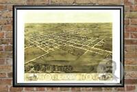 Old Map of Marion, IA from 1868 - Vintage Iowa Art, Historic Decor