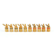 10 Pcs Gold Plated Binding Post Amplifier Speaker Audio Connector Terminal Usa