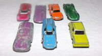 7- Vintage Tootsie Toy minis, Die cast toy cars, made in the U.S.A.