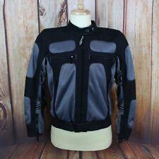 Triumph Motorcycles Men's Motorcycle Jacket Medium Padded Gray Black