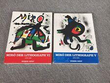 Joan Miro Der Lithograph V u. VI 2 Bände Werkverzeichnis Litho Maeght Neu Carmer