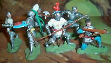 Britains Swoppet Foot Knights with some having weapons & Swords in belts -Nice!