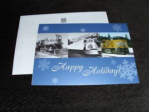 UP Train RR Union Pacific Freight City Portland 788 1860 7888 Christmas Card b