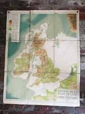 George Philip & Son Ltd, British Isles Land Relief and Communications Map