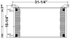Chevy Hummer H1 & H2 New AC Condenser 2002 2003 2004 2005 2006 2007 2008