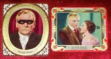 Rudolf Forster 1934 Garbaty Film Star Embossed Cigarette Cards Lot of 2