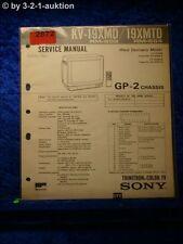 Sony Service Manual KV 19XMD / 19XMTD (#2872)