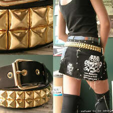 NANA HELLCATPUNKS 2RW GOLD STUD LEATHER Punk Belt TOUGH