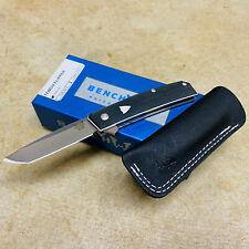 "Benchmade 601 Oeser Tengu Flipper 2.77"" Satin Liner Lock Knife Black G-10 BNIB"