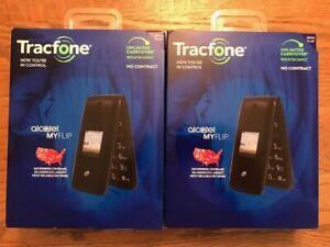 TRACFONE ALCATEL MY FLIP BRAND NEW FLIP PHONE 2 LOT