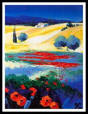 Richard Moisan collines tu Luberon poster image Art pression dans le cadre alu 40x30cm