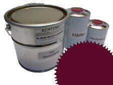1,5 Set Litre 2K Revêtement de sol RAL 4004 Violet Glanz Peinture de sol Atelier
