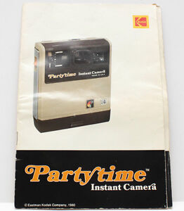 Kodak PartyTime Camera Instruction Manual Guide