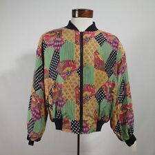 1980's VINTAGE SILK women's L  jacket - NWT, NEW WITH TAGS