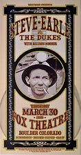 Steve Earle and The Dukes with Allison Moover 2005 Concert Poster
