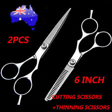 "2 X 6"" Professional Hair Cutting Thinning Scissors Shears Hairdressing Set Salon"