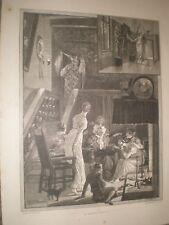 A Ghost Story by R Caton Woodville 1881 print ref AV