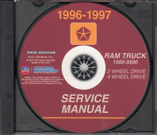 1996-1997 Dodge Ram Truck Shop Manual CD 1500 2500 3500 Service Diesel and Gas