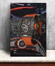 More details for richard mille rm50-03 - mclaren orange watch print. bold graphic art on canvas