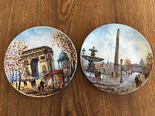 The Bradford Exchange Plates – 2 Parisian Plates of Louis Dali (1980s)